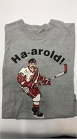 Detroit Red Wings Harold Snepsts Grey T-shirt