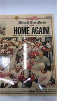 Detroit Red Wings 2008 Laminated Detroit Free