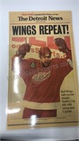 Detroit Red Wings 1998 Laminated Newspaper Covers