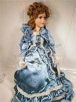 """Jacqueline Collection """"Ruby"""" Porcelain Doll 22"""""""