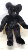 """20"""" Tall Black Fur Teddy Bear with movable"""