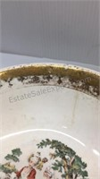 22K Gold Trimmed Serving Bowl  & China Plate