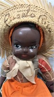 Vintage Puerto Rico Souvenir Doll with straw hat