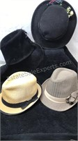 Lot of 4 Vintage Hats Mfg info in photos