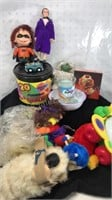 Lot of Dolls and Toys Batman Doll and Frog Angel
