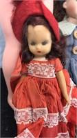 Lot of 4 Vintage Dolls Plastic and Porcelain