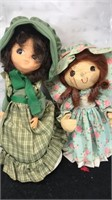 Lot of 2 Vintage Pioneer Dolls Green one is a