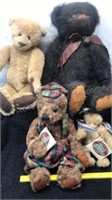 Lot of 4 Cottage Collectibles Bears
