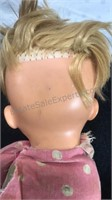 """Vintage Non-Working Pull String Talking Doll 14"""""""