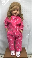 """24"""" inch Tall Doll with Snowflake Carters Onesie"""
