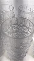 7 pcs Matching Plastic Drinking Glasses 5 1/2 x