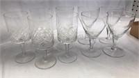 """9 pcs Glass Stemware 5"""" Tall"""