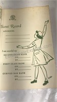 """1960 Girl Scout Handbook 8x6""""  cover shows some"""
