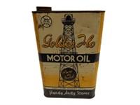GOLDON FLO MOTOR OIL EIGHT IMP. QUARTS CAN