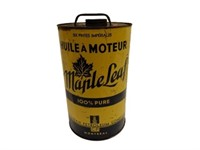 MAPLE LEAF MOTOR OIL SIX IMPERIAL QUARTS CAN