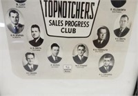 FRAMED 1953 WHITE ROSE SALESMAN TOPNOTHCHERS CLUB