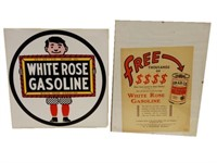 LOT OF 2 WHITE ROSE-EN-AR-CO COLLECTIBLES