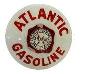 ATLANTIC GASOLINE GAS PUMP GLOBE GLASS LENSE
