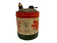 WOLF'S HEAD MOTOR OIL 5 U.S. GAL. CAN