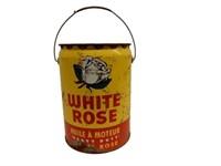 1956 WHITE ROSE MOTOR OIL 5 IMP. GAL. CAN