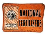 NATIONAL FERTILIZERS EMBOSSED SST SIGN