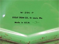 WE GIVE S&H GREEN STAMPS EMBOSSED SST SIGN