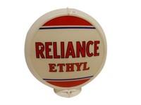 "RELIANCE ETHYL 13.5"" GAS PUMP GLOBE- ONE LENSE"