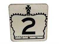 HIGHWAY 2 S/S METAL ROAD SIGN
