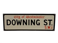 CITY OF WESTMINISTER DOWNING ST. SSP STREET SIGN