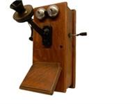 1913 OAK WALL MOUNT TELEPHONE