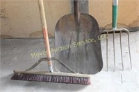 Pitch Fork, Shovel and Broom