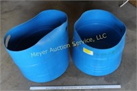 2 - Blue Containers with Handles