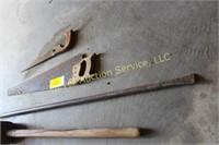 Large Maul, Bar, 2 Shovels