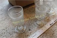 12 glasses & cruet w/stopper