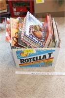 Large box of cookbooks