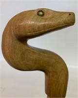 Rare Barley Twist Snake Handle Cane