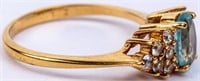 Jewelry 10kt Yellow Gold Topaz Cocktail Ring
