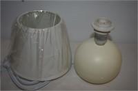 (2) Mini Ceramic Globe Table Lamp