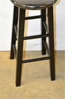 (2) Winsome Solid Wood Bar Stools - Black