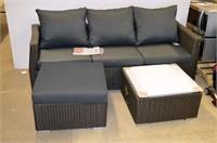 Patio Flare Wicker Sofa Set
