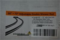 "Adjustable Double Shower Rod 60""-72"""