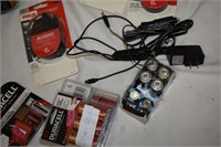 Group of Assorted Cables & Batteries