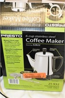 Presto 6-Cup Stainless Coffee Maker (Used),