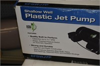 Shallow Well Plastic Jet Pump (Used, Untested)