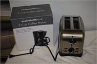 5-Cup Coffee Maker & 2-Slice Toaster