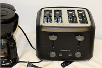 5-Cup Coffee Maker (Used)  & 4-Slice Toaster