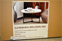 Ellie Round White / Metal Cocktail Table