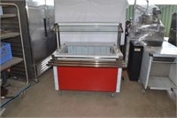 3X3 STAINLESS SERVING TABLE