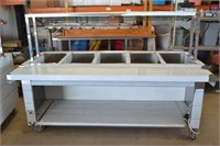 5X3 STAINLESS STEEL SERVING TABLE