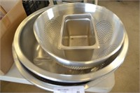 STAINLESS STEEL COLANDER, AND BOWLS